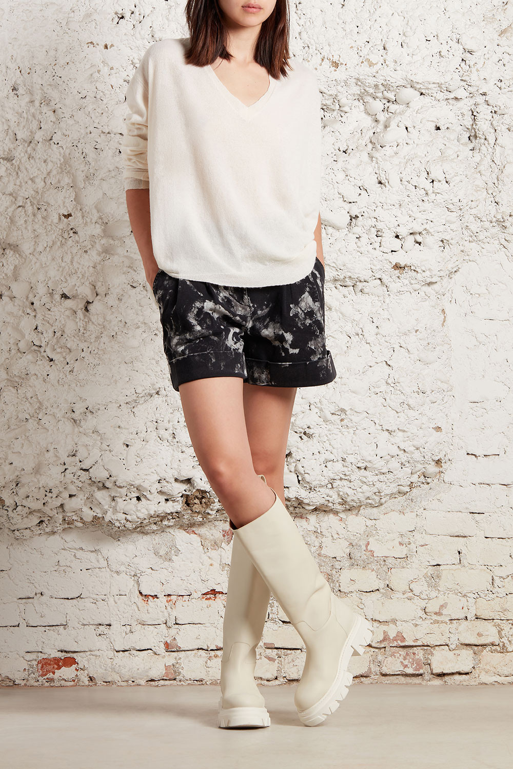 MARBLE SHORTS IN DENIM - CHIWID210097