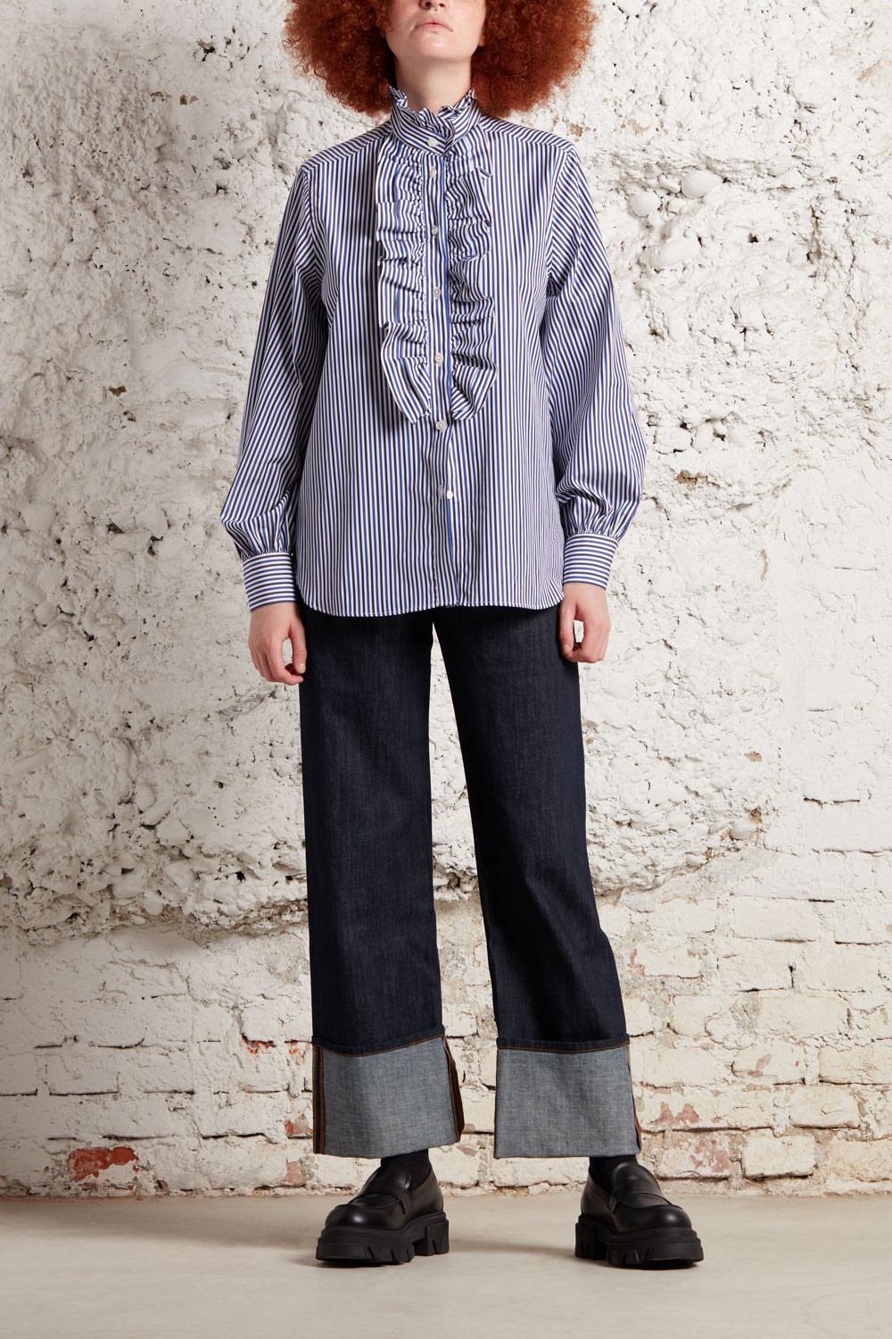 SHIRT WITH ROUCHES - CRIGAD381049
