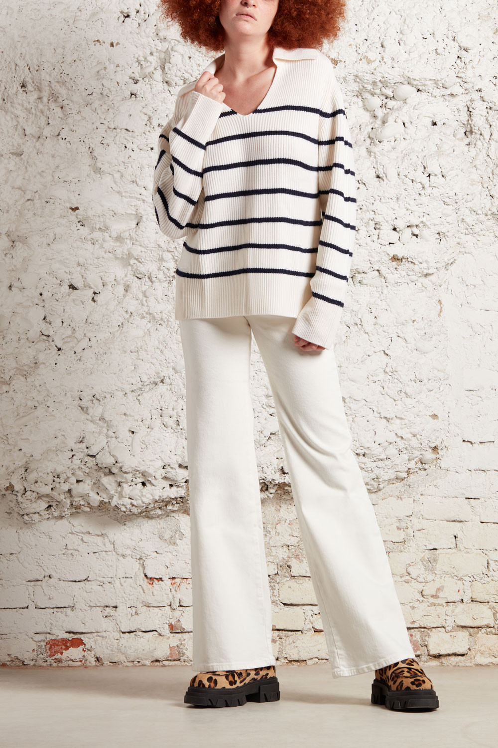 FLARED COTTON TROUSERS - CABAREXYD231182