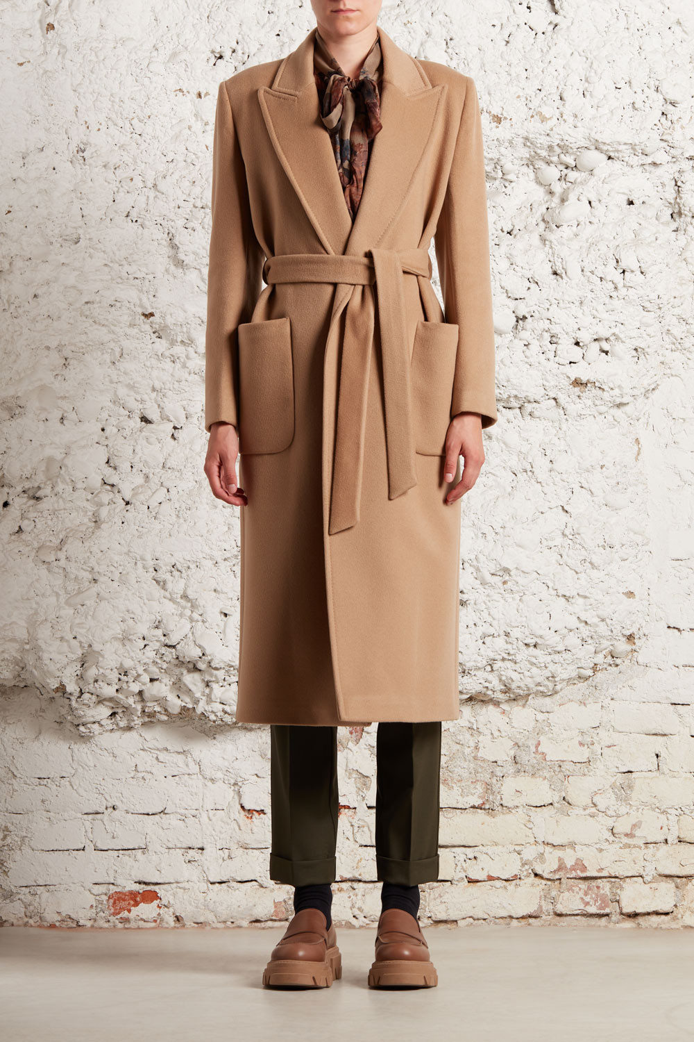 LONG COAT IN CACHEMIRE - WIRED430278B