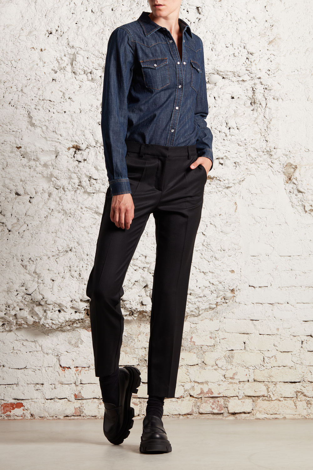 TROUSERS WITH SIDE BAND - LILIUXYD230412