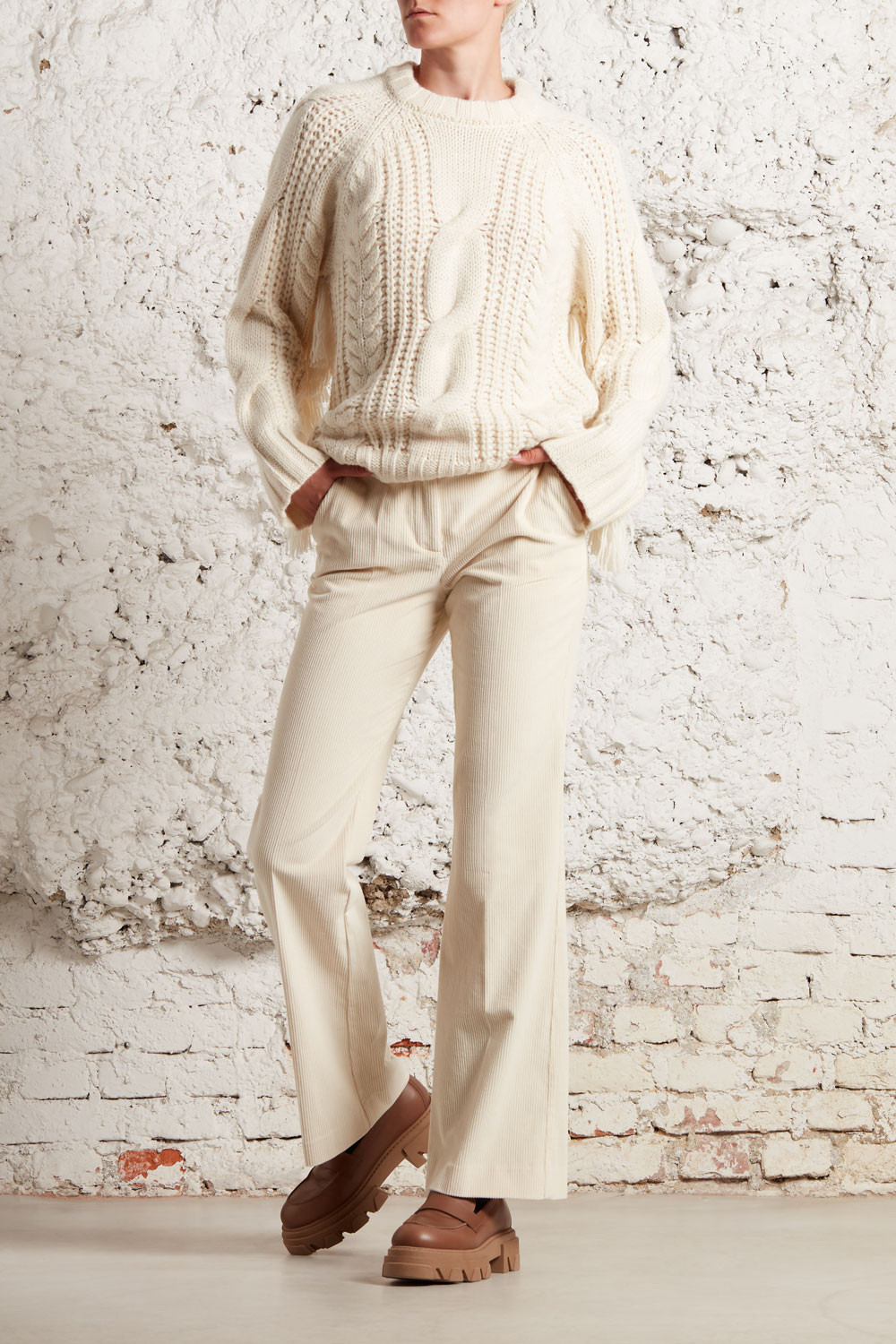 KNITWEAR WITH FRINGES - LIVIAD540565