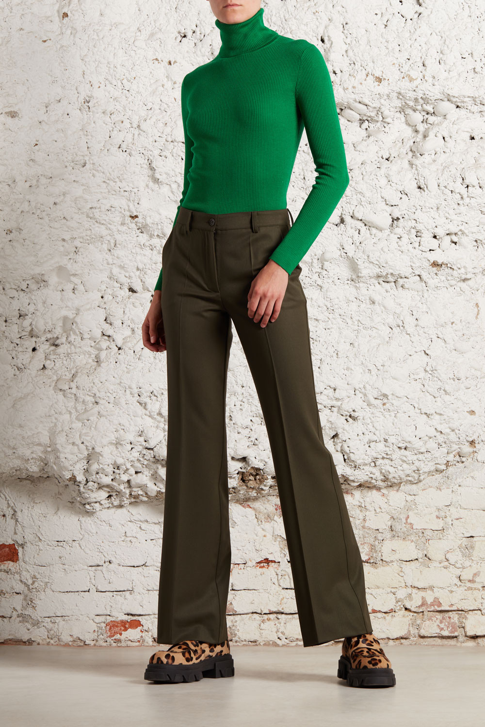 TURTLE NECK RIBBED KNITWEAR - LEILAD512552X